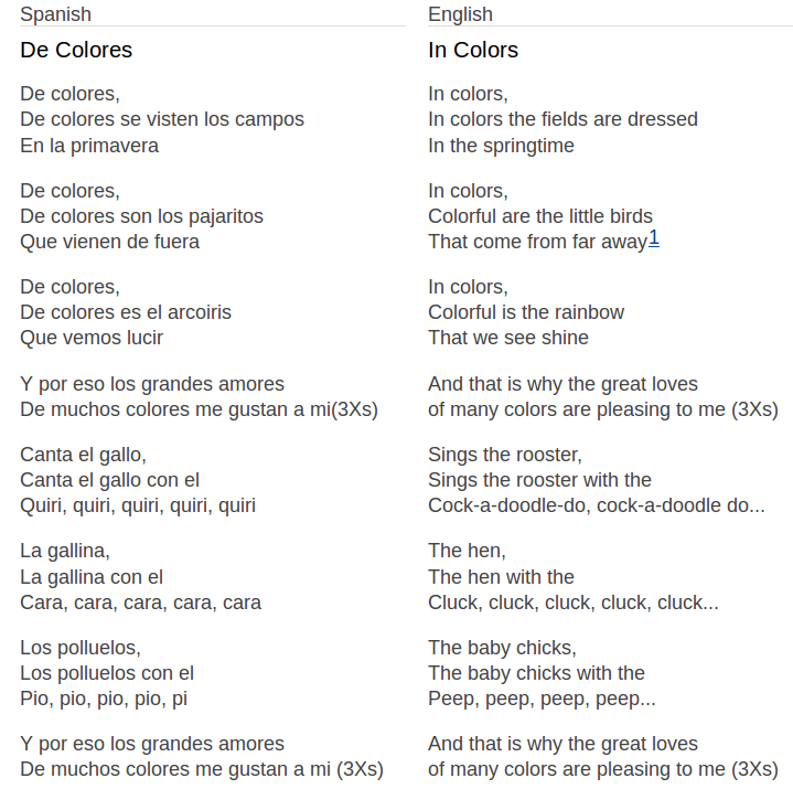 de_colores_lyrics